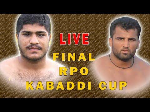 FiNAL RPO Kabaddi Cup Faisalabad Live !! Heera Butt Vs Rana Ali SHAN Iqbal Stadium Faisalabad