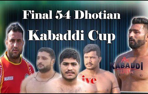 🔴Live | Semi Final & Final 54 JB Dhotian Faisalabad Kabaddi Cup || 21-09-2019 Kbaddi.LivePk